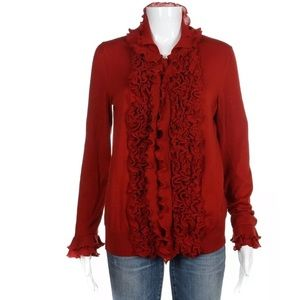 Yves Saint Laurent Rive Gauche red wool sweater M